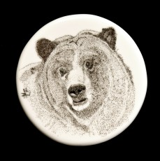 Pensive BearThis bear is on the companion medallion.